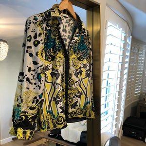 Versace Collection Printed Silk Shirt